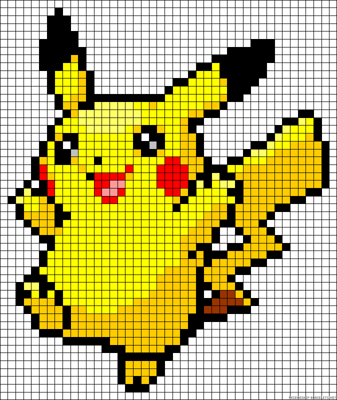 10 Pokemon Pixel Art Templates